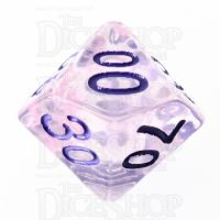 TDSO Pearl Swirl Pink & Purple with Purple Percentile Dice