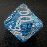 TDSO Confetti Butterfly Blue & White Percentile Dice