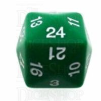 Koplow Opaque Green & White D24 Dice