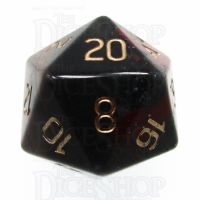 TDSO Bloodstone with Engraved Numbers 16mm Precious Gem 16mm D20 Dice