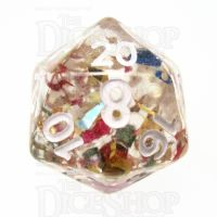 TDSO Confetti Party D20 Dice