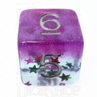 TDSO Confetti Layer Purple & Glitter D6 Dice