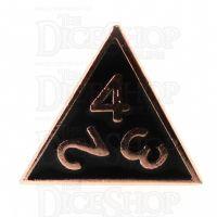 TDSO Metal Fire Forge Copper & Black Enamel D4 Dice