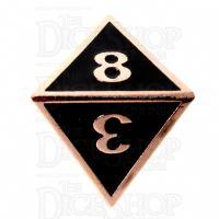 TDSO Metal Fire Forge Copper & Black Enamel D8 Dice