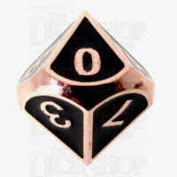 TDSO Metal Fire Forge Copper & Black Enamel D10 Dice