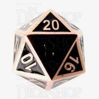 TDSO Metal Fire Forge Copper & Black Enamel D20 Dice