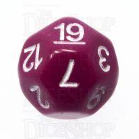 Impact Opaque Light Purple & White D19 Dice