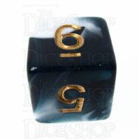 TDSO Marble Teal & White D6 Dice