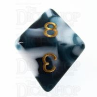 TDSO Marble Teal & White D8 Dice