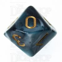 TDSO Marble Teal & White D10 Dice