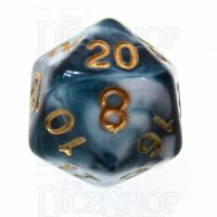 TDSO Marble Teal & White D20 Dice