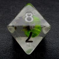 TDSO Encapsulated Flower Lavender & Green D8 Dice