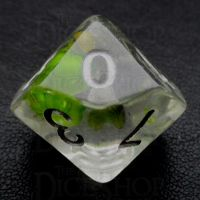 TDSO Encapsulated Flower Lavender & Green D10 Dice