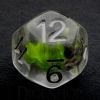 TDSO Encapsulated Flower Lavender & Green D12 Dice