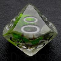 TDSO Encapsulated Flower Lavender & Green Percentile Dice