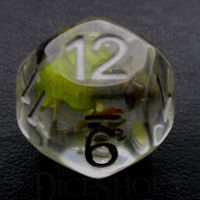 TDSO Encapsulated Flower Lavender & Yellow D12 Dice