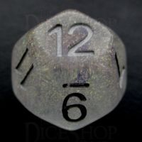 TDSO Encapsulated Glitter Flower Purple D12 Dice
