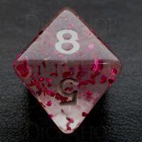 TDSO Confetti Rose Red D8 Dice