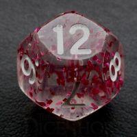 TDSO Confetti Rose Red D12 Dice