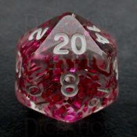 TDSO Confetti Rose Red D20 Dice