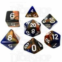 TDSO Duel Blue & Bronze 7 Dice Polyset