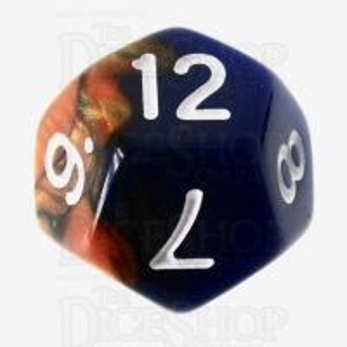 TDSO Duel Blue & Bronze D12 Dice