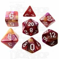 TDSO Trio Gold Pink & Purple 7 Dice Polyset