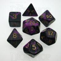 D&G Oblivion Purple & Black 7 Dice Polyset