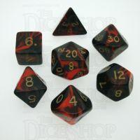 D&G Oblivion Red & Black 7 Dice Polyset