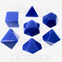 TDSO Opaque Blank Blue 7 Dice Polyset