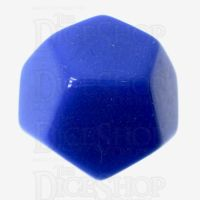 TDSO Opaque Blank Blue D12 Dice