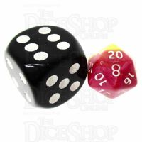 TDSO Duel Pink & Yellow MINI 10mm D20 Dice
