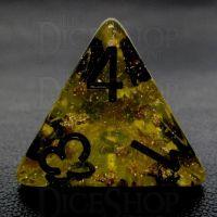 TDSO Confetti Gold Nugget & Black D4 Dice
