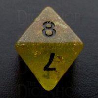TDSO Confetti Gold Nugget & Black D8 Dice