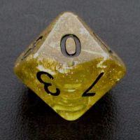 TDSO Confetti Gold Nugget & Black D10 Dice