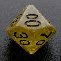 TDSO Confetti Gold Nugget & Black Percentile Dice