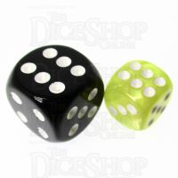 TDSO Pearl Yellow & White 12mm D6 Spot Dice