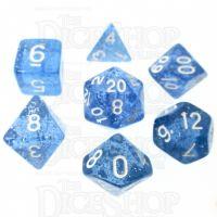 TDSO Glitter Blue 7 Dice Polyset