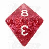 TDSO Glitter Red D8 Dice