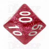 TDSO Glitter Red Percentile Dice