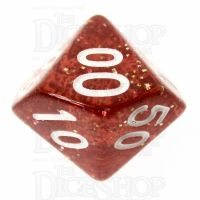 TDSO Glitter Orange Percentile Dice