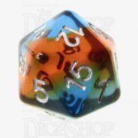 TDSO Layer Transparent Parallel Universe D20 Dice