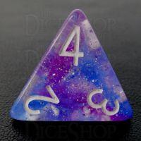 TDSO Galaxy Glitter Make A Wish D4 Dice