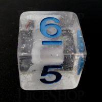 TDSO Metallic Flakes Winter Storm D6 Dice