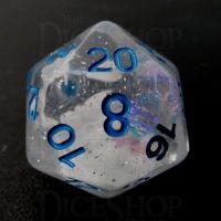 TDSO Metallic Flakes Winter Storm D20 Dice