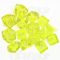 Role 4 Initiative Translucent Yellow & White 15 Dice Polyset