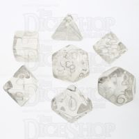Role 4 Initiative Translucent Clear & White 7 Dice Polyset