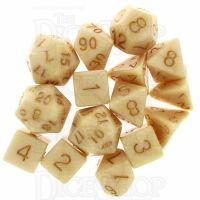 Role 4 Initiative Marble Latte 15  Dice Polyset