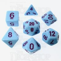 TDSO Pastel Opaque Blue & Purple 7 Dice Polyset