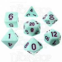 TDSO Pastel Opaque Mint & Purple 7 Dice Polyset